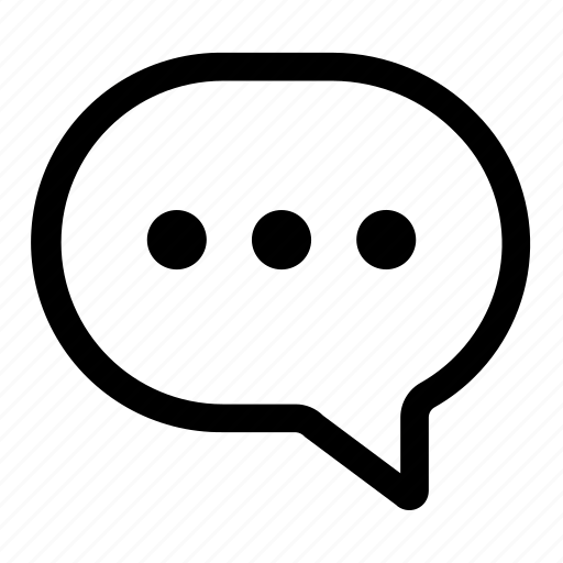 bubble, chat, chatting, message, typing icon