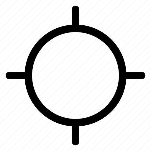 cross, crosshair, gps, hair, location, target icon