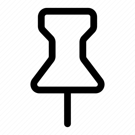 attach, map, marker, paper, pin icon