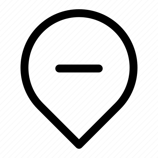 address, delete, location, point, remove icon