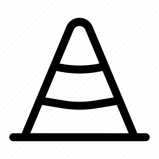 barrier, blocker, cone, road, traffic icon