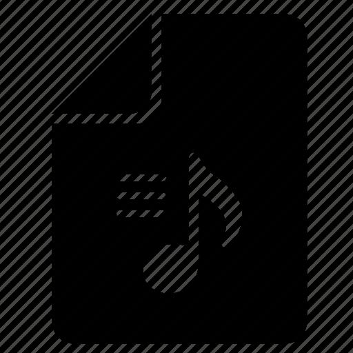 audio, file, lyrics, music, song icon