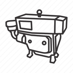 construction, diesel, engine, industrial, machinery, tools icon