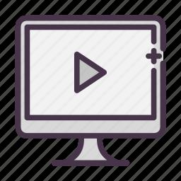 mov, movie, play, video, youtube icon