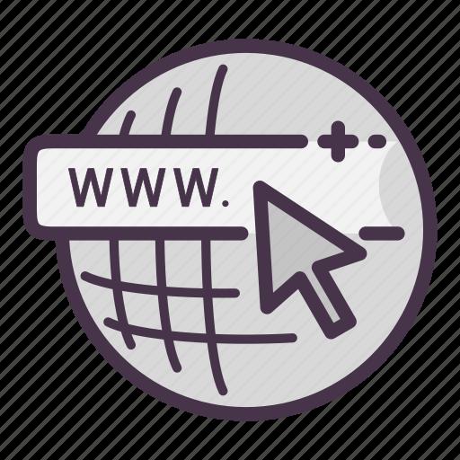 cursor, domain, global, internet, url, web, www icon