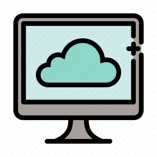 cloud, device, icloud, imac, repository, storage icon