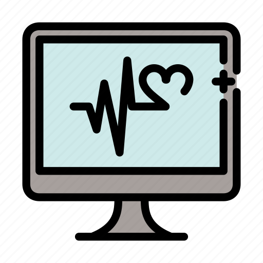 cardiogram, load, pulse, system icon