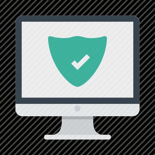 antivirus, device, imac, monitor, protection icon