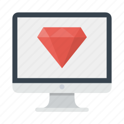 diamond, jewel, programming, ruby, vision icon