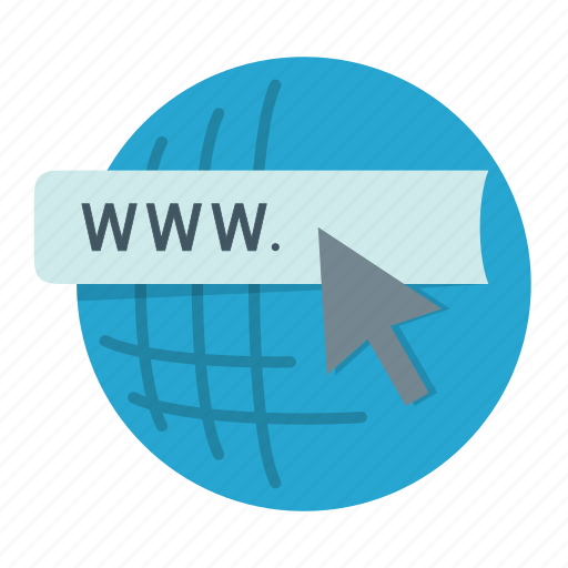 cursor, domain, global, internet, url, web, www icon