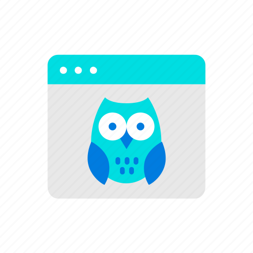 browser, education, online, owl icon
