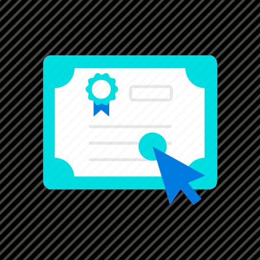 certificate, diploma, grade icon