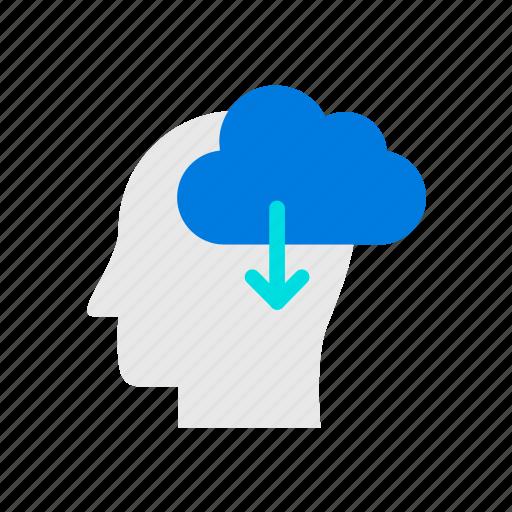 cloud, education, mind, online icon