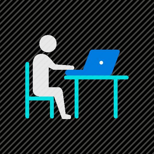 desk, educate, study icon