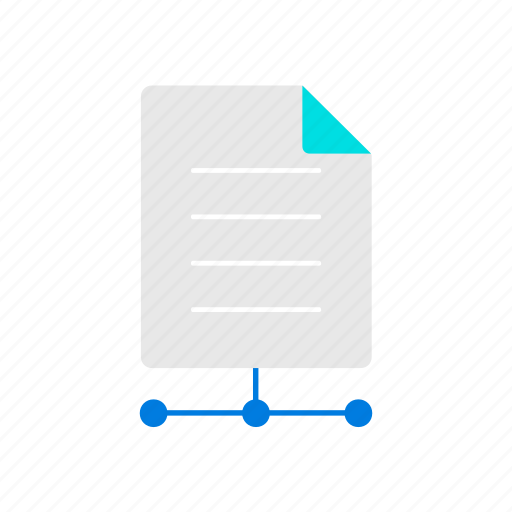 document, online, share icon