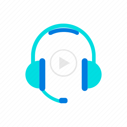 headphones, listen, video icon
