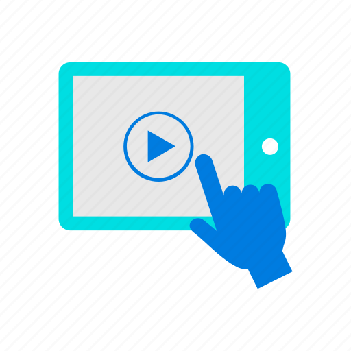 tablet, touch, video icon