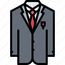 clothes, costume, criminal, gang, mafia, shirt, tie icon