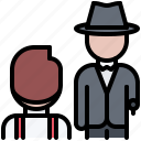 bandit, criminal, gang, mafia, mafioso, pistol, robbery icon