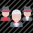 bandit, criminal, gang, godfather, mafia, mafioso icon