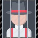 bandit, criminal, gang, jail, mafia, mafioso, prisoner icon