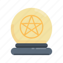 halloween, ball, magic, crystal, magic ball, fortune teller icon