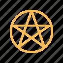 circle, magic, magical, pentacle, sign, star icon