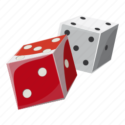 cartoon, chance, cube, dice, gambling, game, luck icon