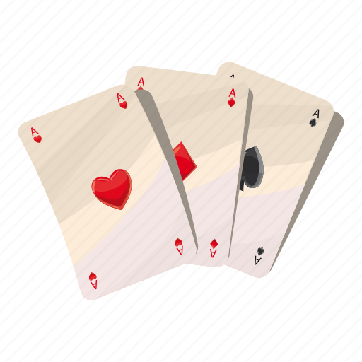 ace, card, cartoon, game, heart, poker, win icon
