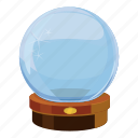 ball, cartoon, crystal, glass, magic, magical, sphere icon