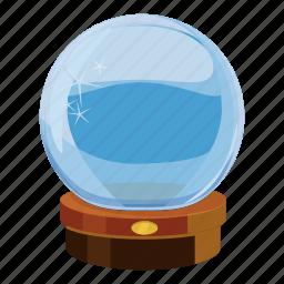 ball, cartoon, crystal, glass, magic, magical, sphere icon