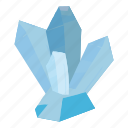 cartoon, crystal, gem, geology, nature, rock, stone icon