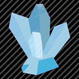 cartoon, crystal, gem, geology, nature, rock, stone icon
