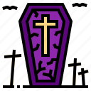 coffin, death, ghost, halloween icon