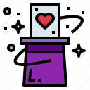 card, hat, magic, magician, trick icon