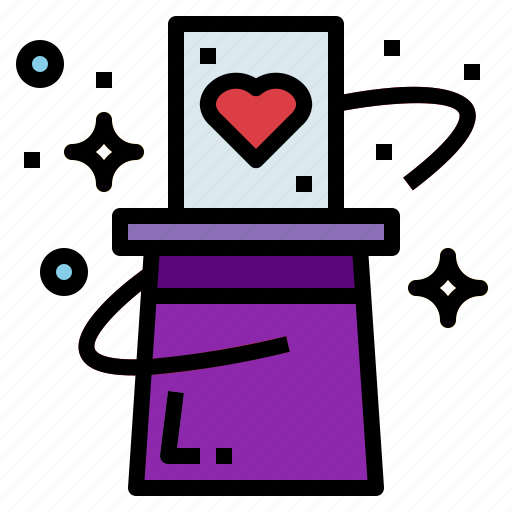 Card, hat, magic, magician, trick icon - Download on Iconfinder