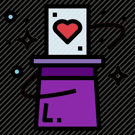 card, hat, magic, magician, trick icon