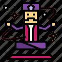 entertainment, magic, magician, wizard icon