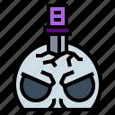 knife, magic, ritual, skull icon