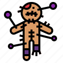 halloween, horror, spooky, voodoo icon