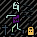 halloween, horror, spooky, zombie icon