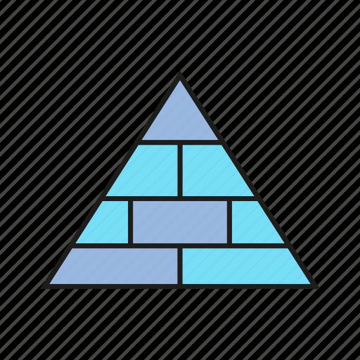 chart, data, diagram, pyramid icon