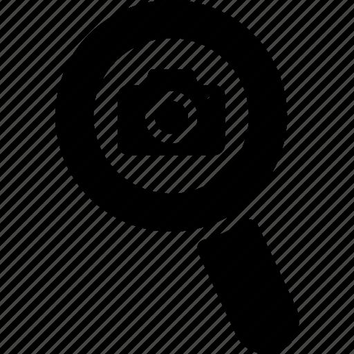 camera, glass, internet, media, multimedia, search, zoom icon