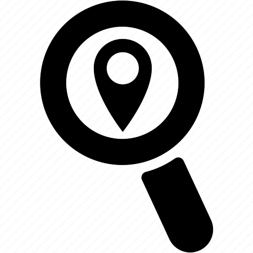 find, glass, location, magnifier, search, zoom icon