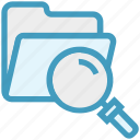 find, folder, glass, magnifier, magnifying glass, search, zoom icon