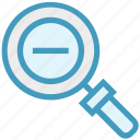 find, glass, magnifier, magnifying glass, minus, search, zoom icon