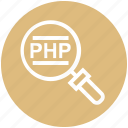 find, glass, magnifier, magnifying glass, php, search, zoom