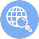 find, glass, magnifier, magnifying glass, search, world, zoom