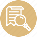 document, find, glass, magnifier, magnifying glass, search, zoom