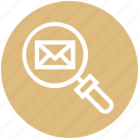 envelope, find, glass, magnifier, magnifying glass, search, zoom
